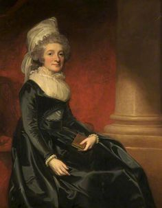 Lady Henrietta Cavendish-Bentinck (1737–1827), Countess of Stamford by George Romney Date painted: c.1790. The daughter of the 2nd Duke of Portland, granddaughter to Lord Harley, 2nd Earl of Oxford. In 1763 she married the 5th Earl of Stamford. She bore him no fewer than ten children. Where to see this painting? Dunham Massey, Cheshire, North West, National Trust.