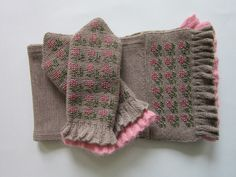Wool Mittens and Scarf