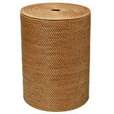 Found it at Wayfair - Round Rattan Laundry Hamper with Cotton Liner