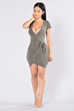 Rum Girl Dress - Olive http://amzn.to/2sUF3NQ