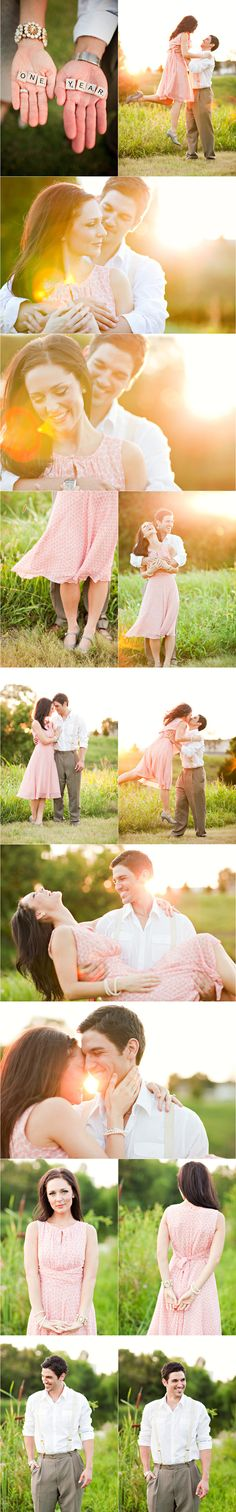 First Anniversary Shoot. They had me with the scrabble tiles & vintage like clothing wear. <3