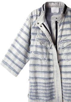 3.1 Phillip Lim / Shredded Denim Utility Jacket