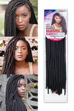 - Description - Qualities - How to Style - About the Brand - Shipping and Returns The Janet Collection Havana Mambo Faux Locs Braid has a very natural and realistic dreadlock look which you can croche