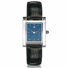 Lehigh University Women's Swiss Watch - Blue Quad Watch with Leather Strap by M.LaHart & Co.. $229.00. Three-year warranty.. Attractive M.LaHart & Co. gift box.. Swiss-made quartz movement with 7 jewels.. Officially licensed by Lehigh University. Classic American style by M.LaHart. Lehigh University women's steel watch featuring Lehigh shield at 12 o'clock on blue dial. Swiss-made quartz movement with 7 jewels. Blue dial with hand-applied, faceted markers. Stainl...