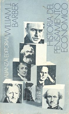 """Cover design: Daniel Gil. Spanish edition of """"A History of Economic Thought,"""" by William J. Barber. (Alianza Editorial.)"""
