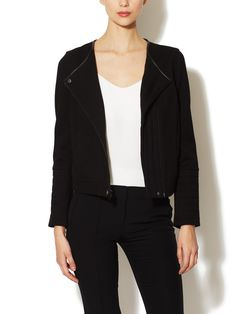 TIBI - Odeon Leather Trimmed Motorcycle Jacket