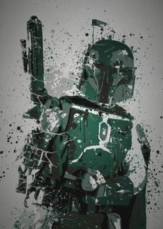 Steel poster Movies & TV pop culture splatterings splatter boba fett star wars return of the jedi empire strikes back