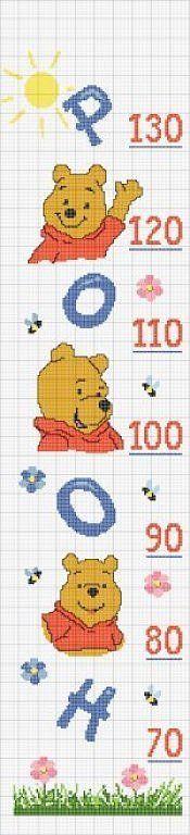 Solo Patrones Punto Cruz (pág. 204)   Aprender manualidades es facilisimo.com Cross Stitch Boards, Just Cross Stitch, Cross Stitch Baby, Cross Stitch Patterns, Alphabet And Numbers, Couture, Baby Disney, Cross Stitching, Winnie The Pooh