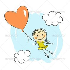 Little Girl with Heart Balloon  #GraphicRiver         Little girl with heart balloon. Editable vector illustration. EPS 10. All the design elements can be recolored, resized and replaced.              Created: 3July13 GraphicsFilesIncluded: VectorEPS Layered: Yes MinimumAdobeCSVersion: CS Tags: baby #balloon #card #cartoon #celebration #character #cheerful #child #comic #cute #day #design #doodle #flying #funny #girl #graphic #happy #heart #holiday #love #retro #romance #romantic #sketch…