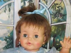 "Betsy Wetsy big 23"" vintage doll"
