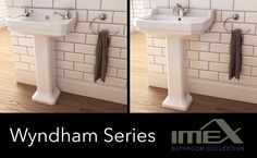 Wyndham Series from Imex. Pure white ceramic wash basins, sparkling chrome and… #imex #collection