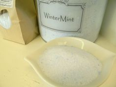 MINERAL BATH SALTS - WinterMint - 18oz. $9.00, via Etsy.