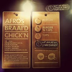 We are very amped to welcome aboard Afro's Chicken to the market. Tasty chicken burgers and handmade chips served from the ubercool bla. Afro, My Heart, Marketing