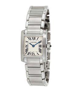 """Cartier Women's 2008 """"Tank Francaise"""" Watch SapphireJewelry, my favorite watch to wear"""