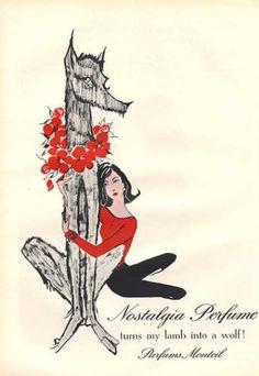 1950's fleur de rocaille by caron perfume bottle   Monteil Nostalgia Parfums Lamb Into Wolf (1959)