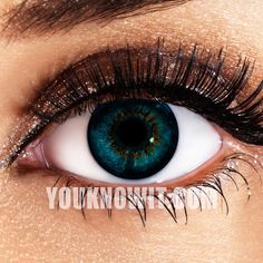 Aqua 3 Tone Funky Eyes Contact Lenses (Pair)