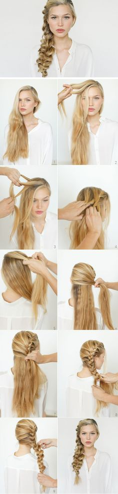 Romantic Side Braid   Click Pic for 12 DIY Wedding Hairstyles for Medium Hair   Easy Hairstyles for Long Hair