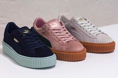 The PUMA Creepers by Rihanna will drop in three more colorways: a lovely and girly Pink/Black one, a Dark Navy/Pastel Blue and a more classic White/Light Cream-Gum. The first style has a pastel pink suede upper contrasted by a black logo and a gumsole. The second one has a white suede base completed by a …