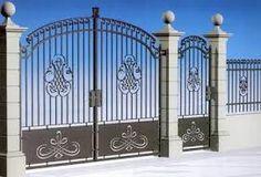 Resultado de imagen para letras en hierro Modern Stair Railing, Modern Stairs, Grill Gate, Main Gate, Wrought Iron Gates, Grill Design, Balcony Design, Fence Design, Okinawa