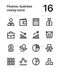Finance, Business. Money Icons for Web and App - #Business #Icons Download here: https://graphicriver.net/item/finance-business-money-icons-for-web-and-app/20058300?ref=alena994