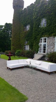Wedding preparation is truely on its way at the castle starting with the white furniture at Luttrellstown Castle Resort