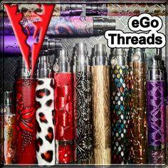 eGo Threaded E Cigarette Batteries Red cheetah pattern ♡