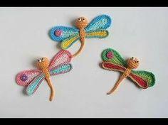 Items similar to Dragonfly Crochet Applique, amigurumi crochet Dragonfly, wings wide, 1 piece on Etsy Love Crochet, Crochet Gifts, Modern Crochet, Hand Crochet, Crochet Amigurumi, Crochet Beanie, Crochet Toys, Crochet Flower Tutorial, Crochet Flowers