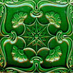 End of XIX century. Azulejos Art Nouveau, Art Nouveau Tiles, Portuguese Culture, Portuguese Tiles, Vintage Ceramic, Ceramic Art, Vintage Tile, Tile Art, Mosaic Tiles