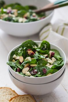 Cranberry Almond Spinach Salad Recipe on Yummly