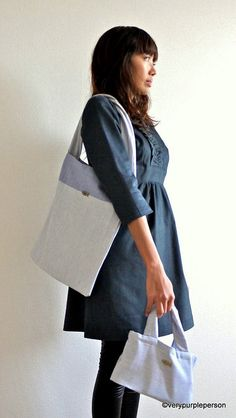 Tote bag and lunch bag by verypurpleperson, via Flickr