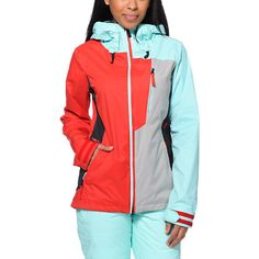 Take on the slopes with the style and tech of the Stone 10K jacket from Volcom Girls. Coming in a Red, Mint and Grey colorway, this Volcom snow jacket is designed with V-Science technology, Zip Tech jacket to pant interface and mesh lined zipper arm vents to keep you comfortable for a day of riding.
