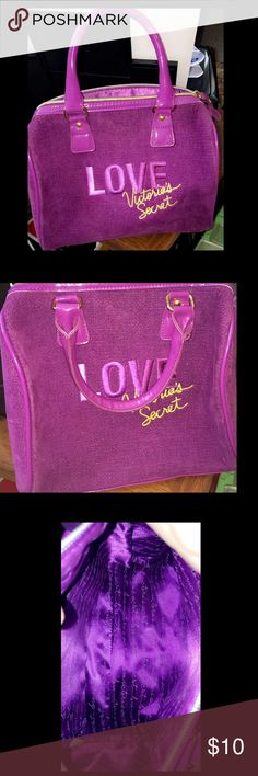 Victoria's Secret velvet purple purse This bag is great!! It's purple velvet and silk interior. This is used but in great condition! Victoria's Secret Bags Mini Bags