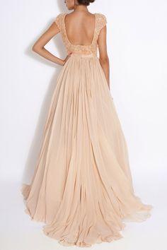 robe longue champagne