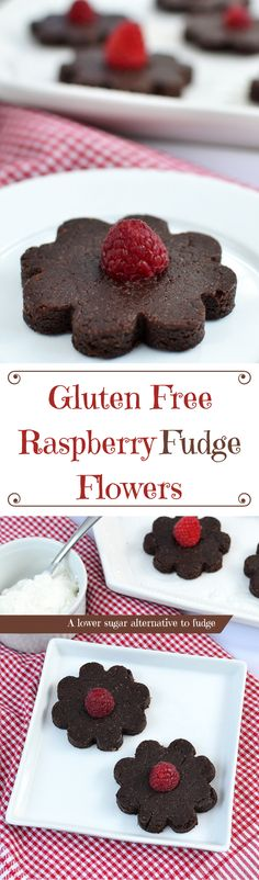 Satisfy your sweet tooth with Gluten Free Raspberry Fudge Flowers ...