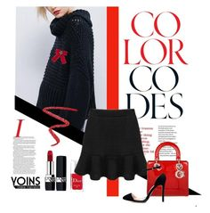 """""""101"""" by lilica-k ❤ liked on Polyvore featuring Christian Dior, NARS Cosmetics, Gucci, yoins and loveyoins"""