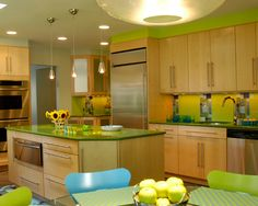 Orange And Lime Green Kitchen : ... kitchens design green kitchen kitchen design green kitchen decor