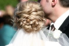 wedding hair by rlonas, via Flickr; soft knot