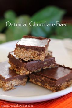 Grain Crazy: Oatmeal Chocolate Bars