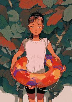 Kano Nakajima on Behance Pretty Art, Cute Art, Character Illustration, Illustration Art, Arte Van Gogh, Posca Art, Character Design Inspiration, Aesthetic Art, Cool Artwork