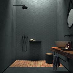Seamless fra Italienske Unicom hos Bella fliser og design as oslo lier drammen t., - Lilly is Love Modern Farmhouse Bathroom, Industrial Bathroom, Modern Bathroom Decor, Bathroom Interior, Modern Decor, 1930s Bathroom, Industrial Living, Bathroom Towels, Houzz Bathroom