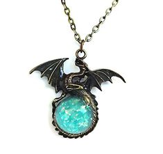 Glow in the Dark Bronze Dragon Necklace Charm with Glowing Blue Sparkle Orb Uv Flashlight Included Little Gem Girl http://www.amazon.com/dp/B00RSULKHW/ref=cm_sw_r_pi_dp_hQQZvb0B30KMF