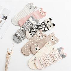 Cheap female socks, Buy Quality womens cotton socks directly from China socks female Suppliers: Cute Animal Women Cotton Socks Female Socks Meias Sock Autumn Winter Warm Socks for Lady Girls Sokken Calcetines Mujer Funny Socks, Cute Socks, Patterned Socks, Striped Socks, Sock Animals, Cute Cartoon Animals, 3d Cartoon, Rocket Cartoon, Cartoon Girls