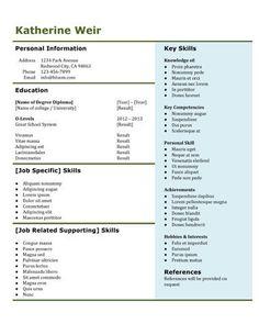 resume - Free Resume Template by Hloom.com