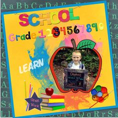 Layout by sanra. Kit: Back to School by Scrapbird Designers collab http://scrapbird.com/kits-c-446/scrapbird-collab-c-446_113/back-to-school-p-18246.html