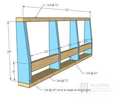 Ana White   Storage Sofa - DIY Projects
