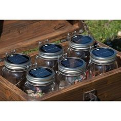 Consol Solar Jar // Set of 2 Glass Jars, Mason Jars, Geek Gadgets, Led, Solar Lights, Light Decorations, Outdoor Lighting, Crock, Modern Design