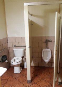 Designing public restrooms is hard.  funny tumblr follow...
