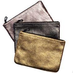 Marc Jacobs metallic pouch
