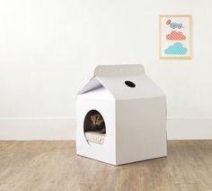 Des cartons drôles et design, et des chats heureux ! - Conso - Wamiz