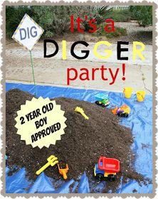 digger boy birthday party theme